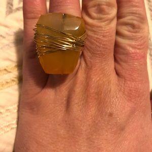 Jewelry - Huge Citrine wrap ring